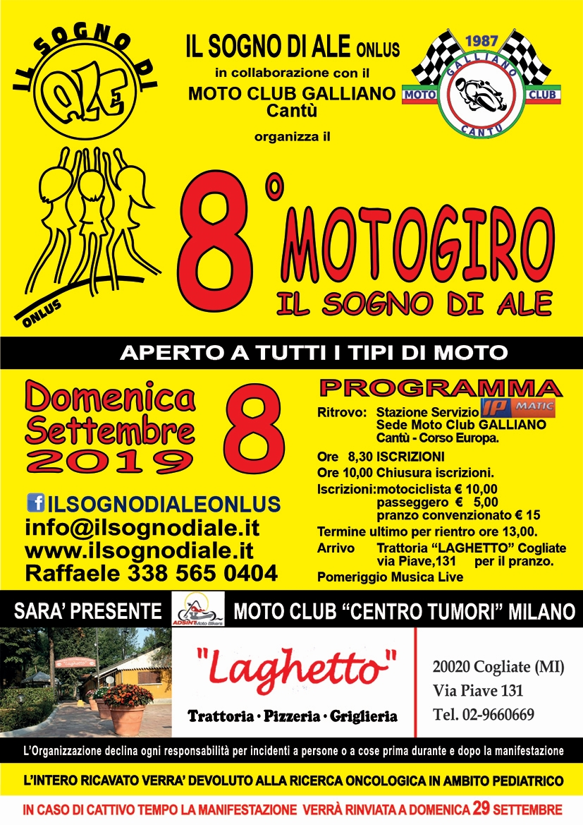 Motogiro - 8 Settembre 2019 - Moto Club Galliano - Cantù (CO)