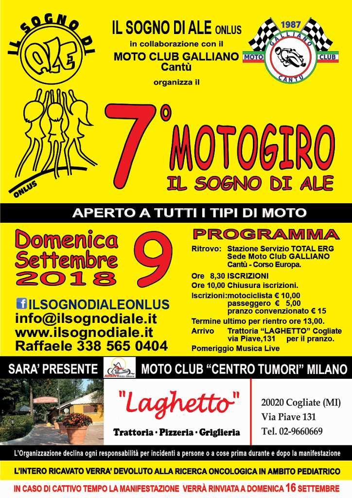 Motogiro - 9 Settembre 2018 - Moto Club Galliano - Cantù (CO)