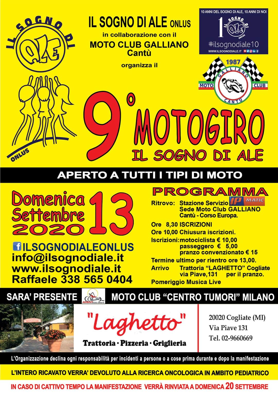 Motogiro - 13 Settembre 2020 - Moto Club Galliano - Cantù (CO)