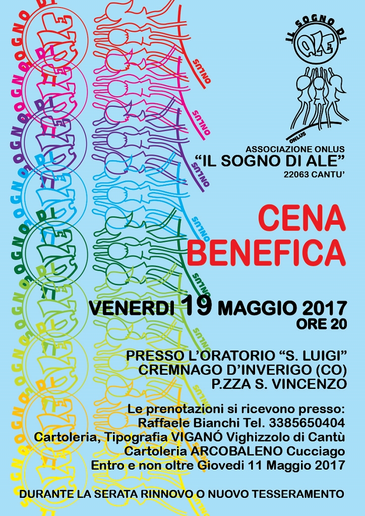 Cena Benefica - 19 Maggio 2017 - Oratorio S.Luigi - Inverigo (CO)