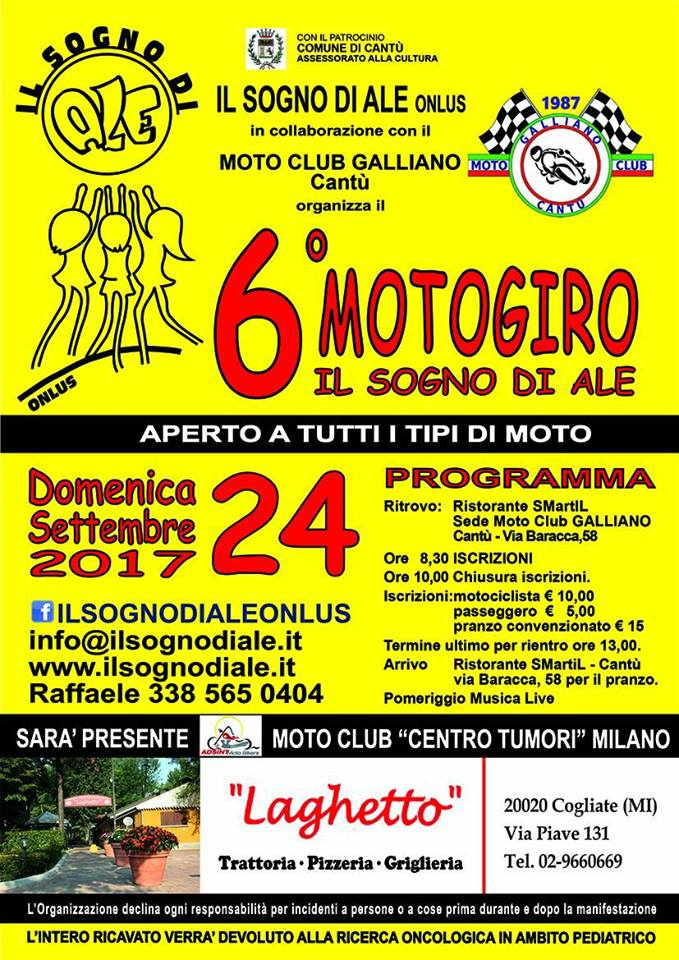 Motogiro - 10 settembre 2017 - Moto Club Galliano - Cantù (CO)
